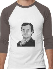 Bill Murray - What Would Bill Murray Do - White Writing Men's Baseball ¾ T-Shirt