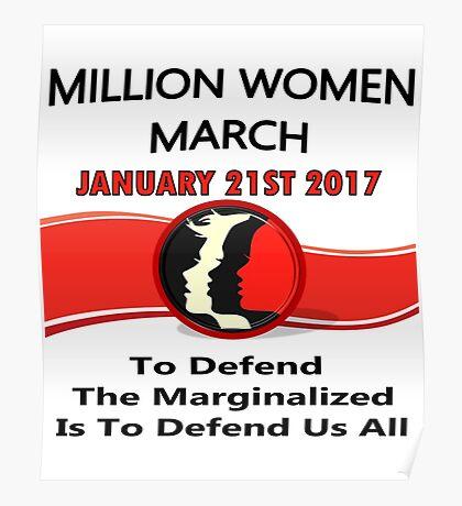 1-21-2017 One Million Women March Washington,DC Poster