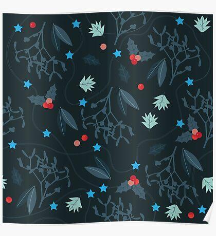 xmas pattern Poster