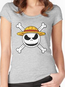 The Nightmare Before Piracy Women's Fitted Scoop T-Shirt