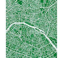 Paris Map (Green) by CartoCreative