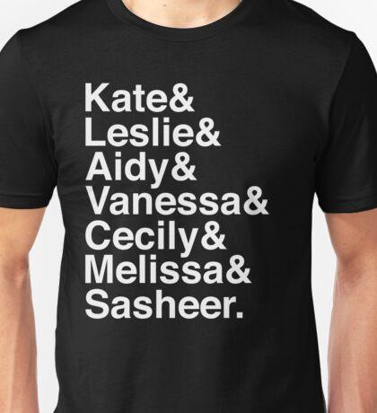 SNL Girl Gang in White Helvetica: 2010s Unisex T-Shirt