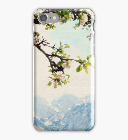 Apple Blossoms and Mountains  iPhone Case/Skin