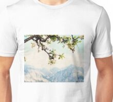 Apple Blossoms and Mountains  Unisex T-Shirt