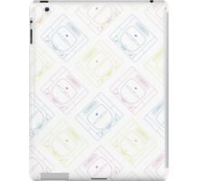 Sega Saturn outlines (white) iPad Case/Skin