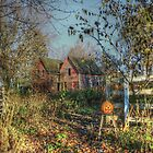 Autumn Sunrise at the Old Homestead by wiscbackroadz