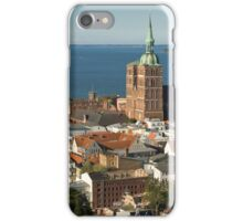 View of Stralsund from St. Mary's, Germany. iPhone Case/Skin