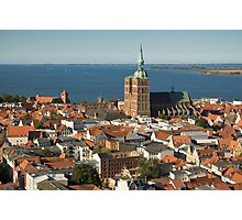 View of Stralsund from St. Mary's, Germany. Photographic Print