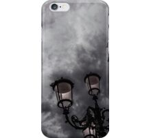 Bell tower and street lamp iPhone Case/Skin