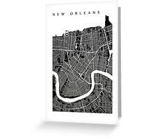 New Orleans (Black) Greeting Card