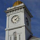 Courthouse Clock by WildestArt