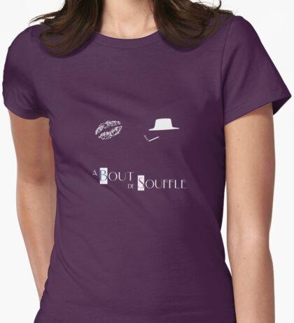 À bout de Souffle alternative movie poster Womens Fitted T-Shirt
