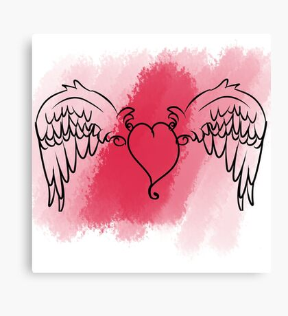 Cupid's Heart Canvas Print