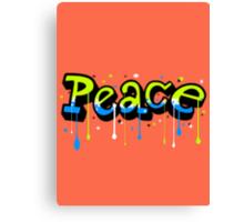 Peace Graffiti Canvas Print