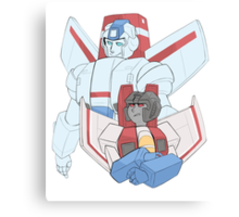 Transformers G1 - Starscream + Skyfire Canvas Print