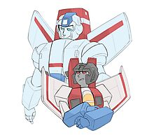 Transformers G1 - Starscream + Skyfire Photographic Print