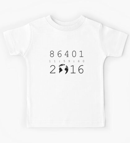 86401 Leap Second 2016 Kids Tee