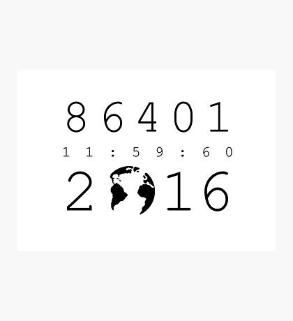 86401 Leap Second 2016 Photographic Print