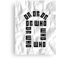 Dr Who Crumpled Canvas Print