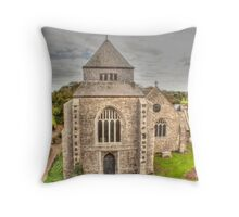 Minster Abbey From The Gatehouse Throw Pillow