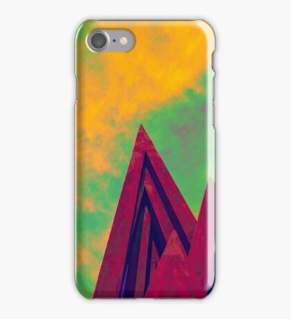 Steal sculpture on a yellow day iPhone Case/Skin