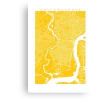Philadelphia (Yellow) Canvas Print
