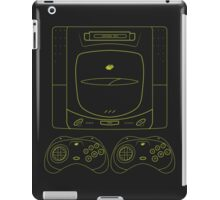 Sega Saturn outlines single (black) iPad Case/Skin