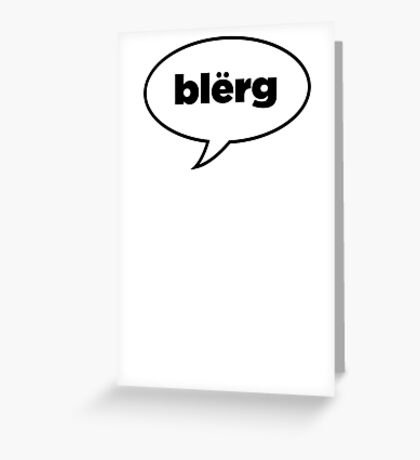 Blërg: Liz Lemon Greeting Card