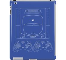 Sega Saturn outlines single (blue) iPad Case/Skin