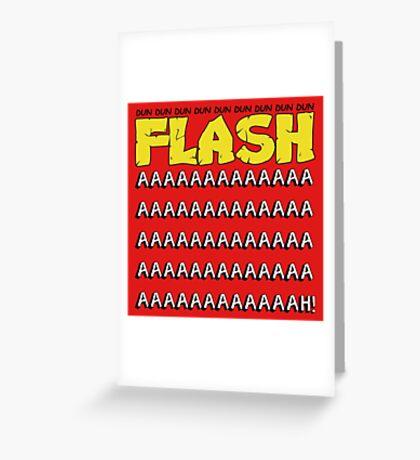 Flash Gordon Greeting Card