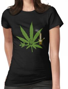 Marijuana Cannabis Weed Funny Womens Fitted T-Shirt