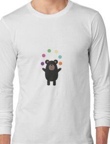 Black Bear juggling Long Sleeve T-Shirt