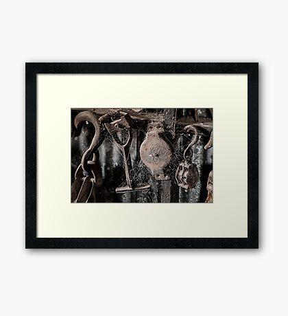 Forgotten Tools Framed Print
