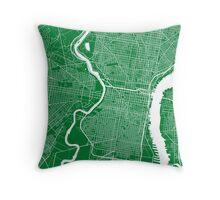 Philadelphia (Green) Throw Pillow