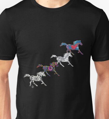 Horses Life color Puzzle Unisex T-Shirt