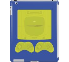 Sega Saturn neon single (blue) iPad Case/Skin