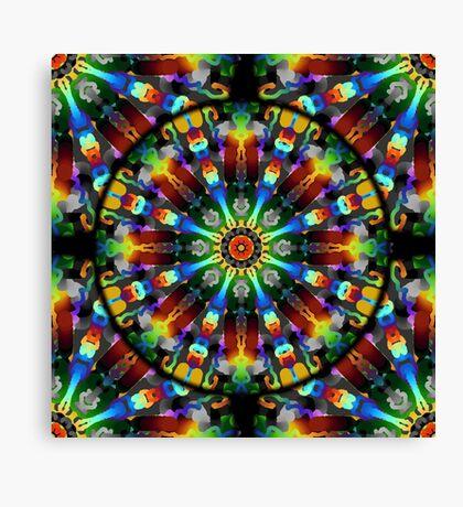 Tie-Dye Fireworks Mandala Canvas Print