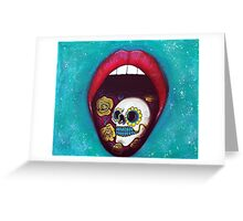 Mouth Full Of Sugar Skull Greeting Card