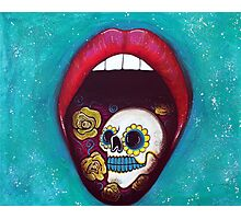 Mouth Full Of Sugar Skull Photographic Print