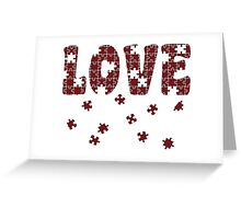 The Puzzle Of Love Greeting Card