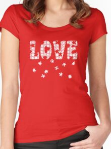 The Puzzle of Love Women's Fitted Scoop T-Shirt