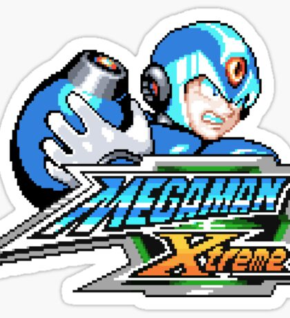 Mega Man Xtreme (GBC Title Screen) Sticker