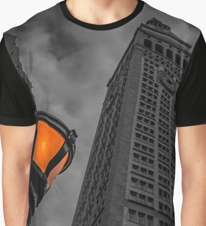 Street Light Under The Running Time | New York City, New York Graphic T-Shirt