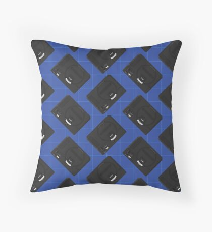 Megadrive (Blue) Throw Pillow