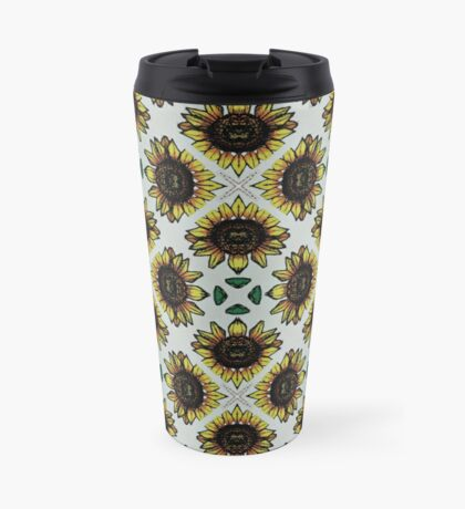yellow sunflower print Travel Mug