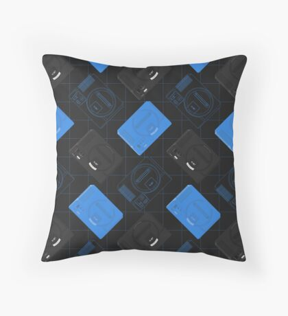 Megadrive mix (black) Throw Pillow