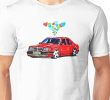 Mercedes 500E Love Hearts Unisex T-Shirt