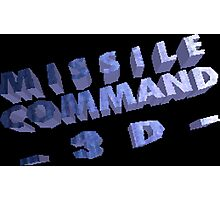 Missile Command 3D (Jaguar Title Screen) Photographic Print
