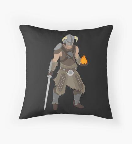 Skryim Dragonborn - Polygonal Throw Pillow