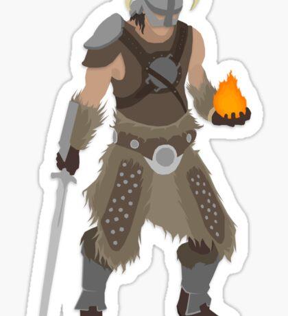 Skryim Dragonborn - Polygonal Sticker